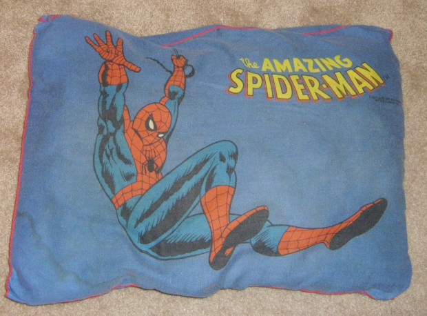 the amazing double-sided spiderman pillow!