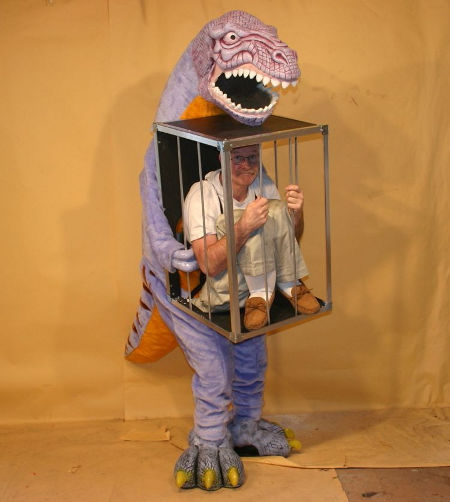 the weirdest dinosaur costume ever?