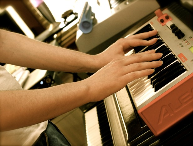 the alesis micron, with complimentary hands (photo by bree gaudette)