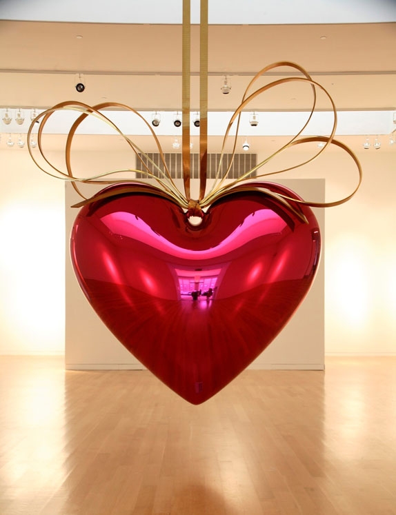 "jeff koons' ""hanging heart"""
