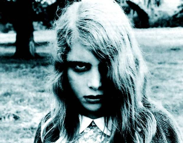 "still image from ""night of the living dead"" (i'd take her out for coffee)."