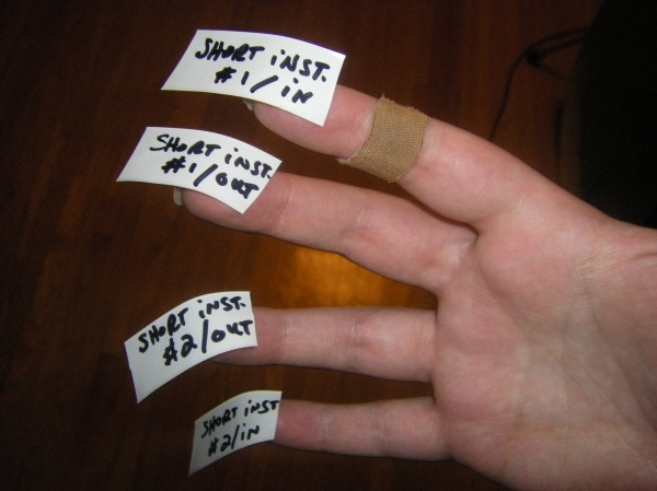 i've got tape on my fingers.