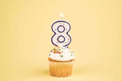 8 year cupcake
