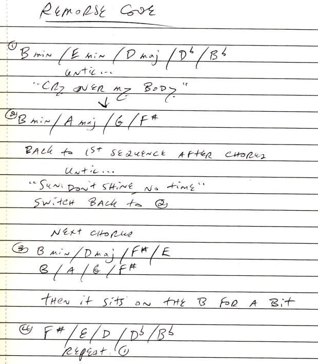remorse code notes