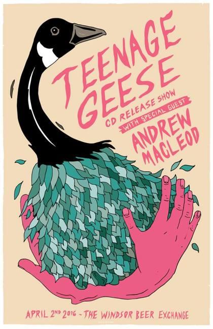 teenage geese poster